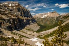 Dal av Stanley Glacier i Yoho National Park, Kanada Royaltyfria Foton