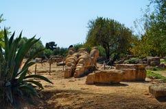 Dal av tempel Agrigento, Italien, Sicilien Arkivfoton