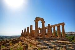 Dal av tempel Agrigento, Italien, Sicilien royaltyfri fotografi