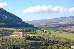 Dal av templen av Agrigento arkivfoto