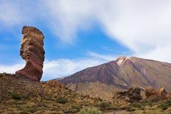 Dal av vulkan Teide, Tenerife, Spanien royaltyfria bilder