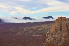 Dal av vulkan Teide, Tenerife, Spanien arkivfoto