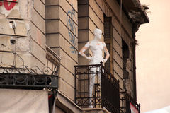 Dal balcone Immagine Stock