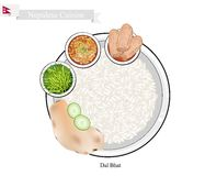 Dal Bhat or Nepalese Steamed Rice and Lentil Soup Royalty Free Stock Image