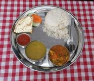 Dal bhat. Tipical newari food Nepal Stock Photos