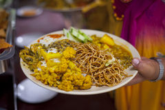 Dal Bhat. Traditional Nepalese food Stock Photography