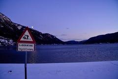 Dal campeggio di Seljord fotografia stock