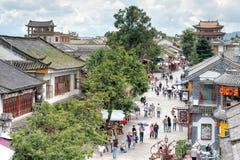DAL CHINY, Aug, - 31 2014: Dali Stary miasteczko sławny punkt zwrotny w t Zdjęcia Stock