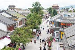 DAL CHINY, Aug, - 31 2014: Dali Stary miasteczko sławny punkt zwrotny w t Obraz Royalty Free