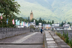 DAL CHINY, Aug, - 31 2014: Miasto ściana przy Dali Starym miasteczkiem sławny Zdjęcie Stock