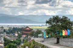 DAL CHINY, Aug, - 31 2014: Miasto ściana przy Dali Starym miasteczkiem sławny Zdjęcia Stock