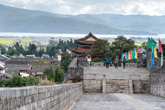 DAL CHINY, Aug, - 31 2014: Miasto ściana przy Dali Starym miasteczkiem sławny Obrazy Stock