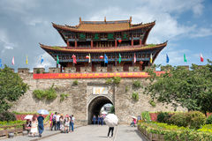 DAL CHINY, Aug, - 31 2014: Północna brama przy Dali Starym miasteczkiem sławny Obraz Royalty Free