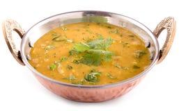 Dal curry na białym tle Fotografia Stock