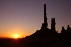 dal för arizona monumentsoluppgång Arkivbilder