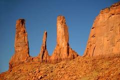 dal för arizona monumentsystrar tre Royaltyfri Bild