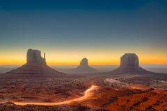 dal för arizona monumentUSA Arkivfoto