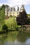 dal för chateaufrance loire montresor royaltyfria foton