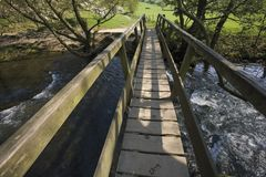 dal för riv för maximum för derbyshire områdesengland nationalpark Arkivbilder