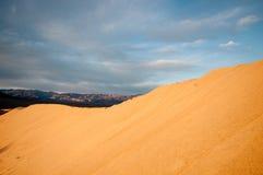 dal för sand för döddynmesquite Royaltyfri Bild