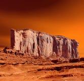 Dal för solnedgånghimmelmonument royaltyfri bild