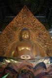 dal för tempel för 18 buddha fotbladguld Fotografering för Bildbyråer