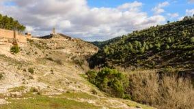 Dal fiume alla torre Fotografia Stock