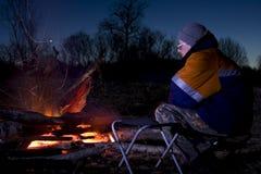 Dal fuoco di accampamento Fotografia Stock Libera da Diritti
