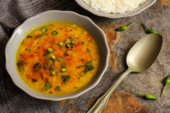 Dal Indian lentil curry soup Stock Image