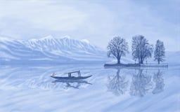 Dal jezioro Kaszmir ilustracji