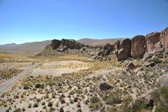 Dal Kala-Kala staden av Oruro Arkivfoto