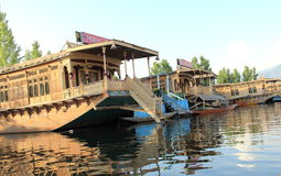 Dal Lake House Boat. Stock Photos