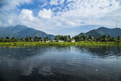 Dal Lake Houseboats Stock Images