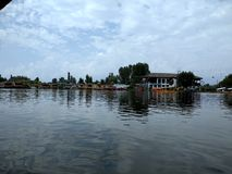 Dal Lake morning view at Shrinagar, Kashmir, India royalty free stock photography
