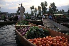 Dal lake. Vegetables market in Dal lake Srinagar stock image