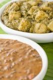 Dal Makhani & Aloo Saag Stock Images