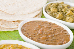 Dal Makhani & Aloo Saag Stock Photography