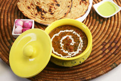 Dal Makhani with Paratha Stock Photography