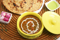 Dal Makhani with Paratha Royalty Free Stock Photos