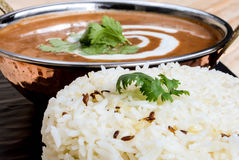 Dal-makhni mit Reis Lizenzfreie Stockbilder