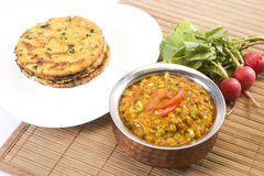 Dal with Makki Ki Roti Royalty Free Stock Image