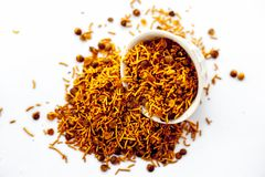 Dal mooth或Dal muth一顿油煎的快餐普遍在印地安人和亚洲 库存图片