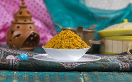 Dal Moth. Fried and Salty Food Dal Moth royalty free stock image