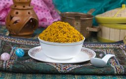 Dal Moth. Fried and Salty Food Dal Moth royalty free stock photo