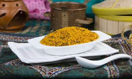 Dal Moth. Fried and Salty Food Dal Moth stock photography