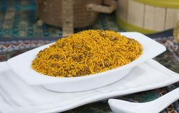 Dal Moth. Fried and Salty Food Dal Moth royalty free stock photos