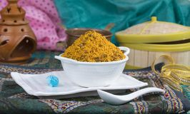 Dal Moth. Fried and Salty Food Dal Moth royalty free stock photography
