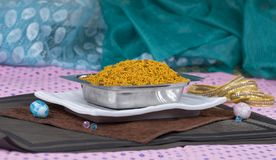 Dal Moth. Fried and Salty Food Dal Moth stock image