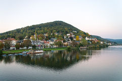 Dal på Neckaret River i Heidelberg i Tyskland Royaltyfria Foton