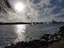 Dal pilastro del sud del punto all'isola di Fishermans, Miami Fotografia Stock Libera da Diritti